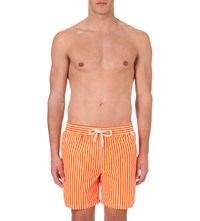 Ralph Lauren Traveller Striped Swim Shorts Orange