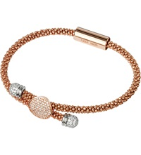 Links Of London Star Dust Toggle Bracelet Rose Plated Silver