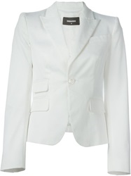 Dsquared2 Fitted Blazer White