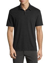 James Perse Cotton Short Sleeve Polo Shirt Black