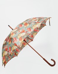 Cath Kidston Kensington 2 Autumn Bloom Teal Umbrella Multi