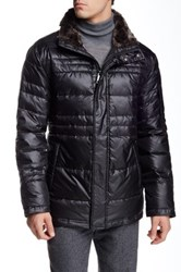 Andrew Marc New York Ethan Faux Fur Lined Parka Black
