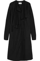 Christophe Lemaire Lemaire Draped Cotton Poplin Dress Black