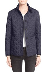 Burberry Women's Brit 'Ashurst' Quilted Jacket Navy