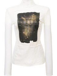 Loewe Sheer Printed Top White