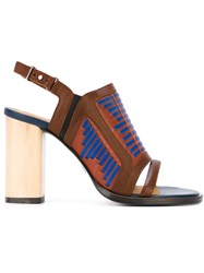 Thakoon Addition 'Lizzy' Sandals Brown