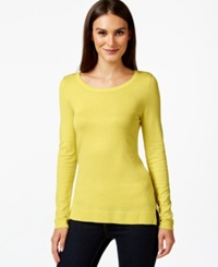 Inc International Concepts Scoop Neck Long Sleeve Sweater Only At Macy's Sunray