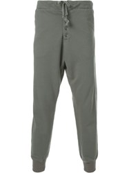 Greg Lauren Army Style Tapered Trousers Green