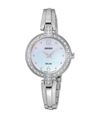 Seiko Jewelry Solar Stainless Steel Bracelet Watch Silver