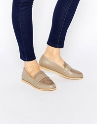 London Rebel Loafers Pale Grey Mf Pu