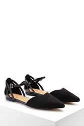 Forever 21 Faux Suede Ankle Strap Flats