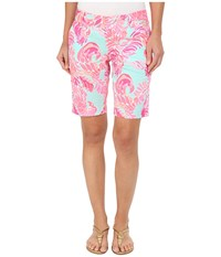 Lilly Pulitzer Chipper Shorts Poolside Blue Love Birds Women's Shorts Pink