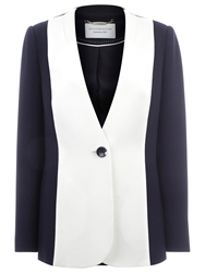 Windsmoor Collarless Jacket Navy Ivory