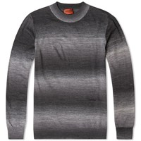Missoni Space Dyed Degrade Crew Knit Grey