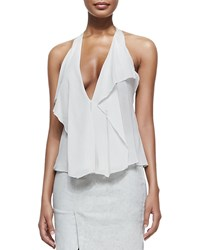 Donna Karan Sleeveless Petal Blouse Women's Chalk