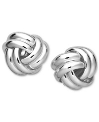 Giani Bernini Sterling Silver Earrings Double Knot Stud