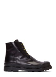 Fendi Palladium Chunky Lace Up Ankle Boots Black