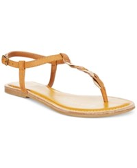 American Rag Krissy Braided Flat Sandals Only At Macy's Women's Shoes Cognac