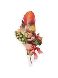 Undercover Posy Feather Pin Badge Red