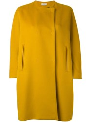 Alberto Biani Cocoon Style Coat Yellow Orange