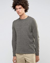 Only And Sons Knitted Flecked Crew Neck Black Blue