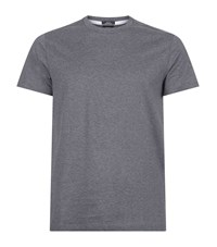 Boss Mercerised Cotton T Shirt Male Dark Grey