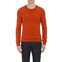 Zanone Men's Cable Knit Sweater Orange