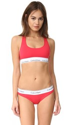 Calvin Klein Underwear Modern Cotton Bralette Evocative Red