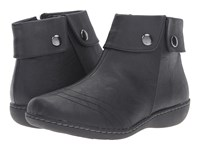 Soft Style Jerlynn Black Leather Women's Pull On Boots