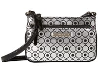 Nine West Glitter Mob Crossbody Silver Black Cross Body Handbags Gray