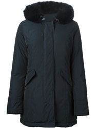 Woolrich Hooded Padded Coat Blue