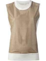Reed Krakoff Punched Lambskin Top White