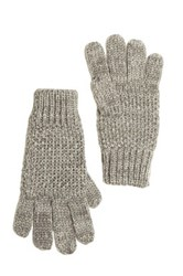 Bench Smoked Pearl Seed Stitch Knit Glove Gray