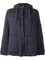 Boboutic Double Knit Hooded Cardigan Grey