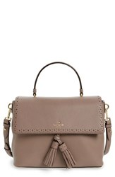 Kate Spade New York James Street Sparrow Leather Satchel Brown Earth