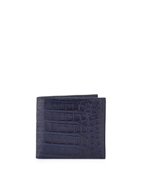 Crocodile Bi Fold Wallet New Navy Santiago Gonzalez