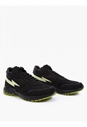 Neil Barrett Black Suede Glow In The Dark Detail Sneakers