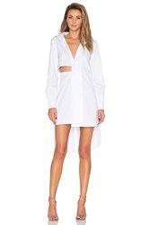 Milly Cutout Shirt Dress White