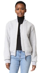 Acne Studios Azura Blanket Bomber Jacket Grey Navy