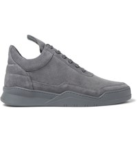 Filling Pieces Ghost Suede Sneakers Dark Gray