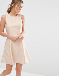 Oasis Metallic Skater Dress Pink