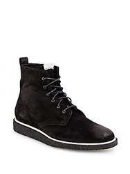 Rag And Bone Ellliot Lace Up Suede Boots Black Waxy