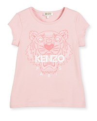 Kenzo Short Sleeve Tiger Jersey Tee Light Pink Size 6 10 Size 6