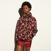 Coach Wild Beast Cropped Sweater Coat Camel