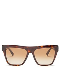 Mcm Square Flat Top Sunglasses 55Mm Havana Brown Gradient Lens