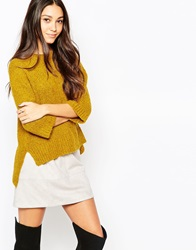 Esprit Crew High Neck Jumper Brassyellow