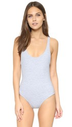 Solid And Striped Anne Marie Euro Swimsuit Heather Grey