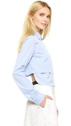 Tome Long Sleeve Cropped Shirt Light Blue