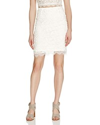 Aqua Lace Pencil Skirt White
