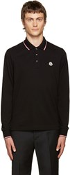 Moncler Black Piqua Polo